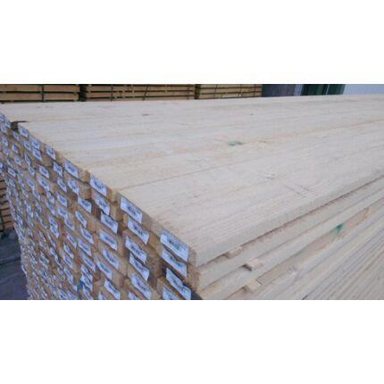 Fenyő fűrészáru  deszka 25x100x4000 mm Prémium építő szélezett deszka