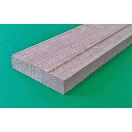 Küszöb tölgy  700x 75 mm 16 mm vastag küszöbsín horony marással fa küszöb (fehér szín)