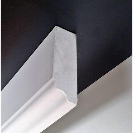 Bútordíszítő fényléc MDF  fóliás fehér szín 2070x60x18 mm  takaróléc 5.sz  akció