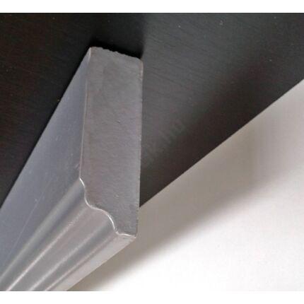 Bútordíszítő fényléc MDF  fóliás metál ezüst szín 2070x60x18 mm  takaróléc 7.sz  akció