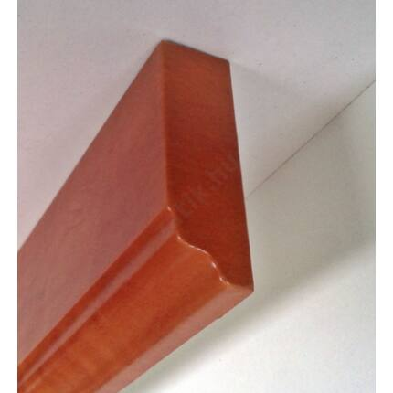 Bútordíszítő fényléc MDF  fóliás calvados szín 2070x60x18 mm  takaróléc 17.sz.  akció
