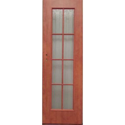 Beltéri ajtó dekorfóliás CLA BT13 X Calvados szín 75x210 8 üveges jobbos BT BLOKK TOKKAL szépséghibá