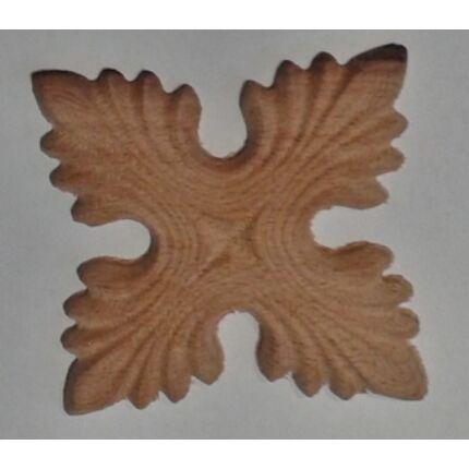 Faragott fa dísz  FRO07  70x70 mm bükkfa faragott rozetta bútordísz 001 HG HU++