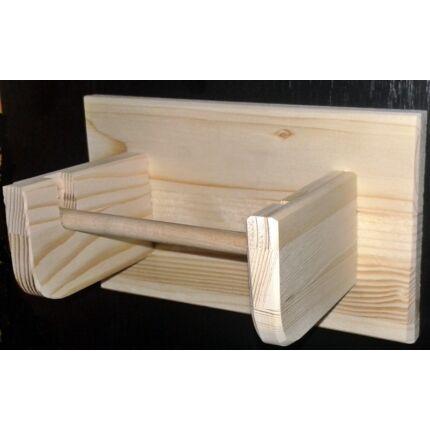 WC papír tartó fából