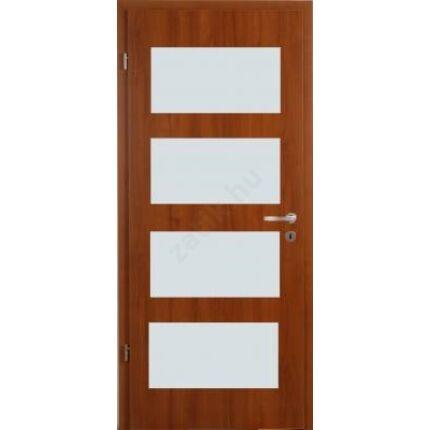 Beltéri ajtó dekorfóliás  dió szín 100x210x10 cm balos üv F kura XX  MAS452 szépséghibás