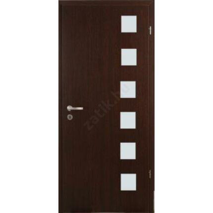 Beltéri ajtó dekorfóliás  Wenge szín 100x210x12 cm jobbos H fatörzs  MAS316 útólag szerelhető tokkal