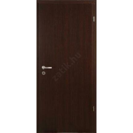 Beltéri ajtó dekorfóliás  wenge szín 100x210x10 cm  tele jobbos  MAS135 utólag szerelhető tokkal