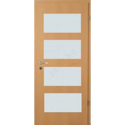 Beltéri ajtó dekorfóliás  Bükk szín 100x210x14 cm jobbos F üv helyes  MAS334 útólag szerelhető tok