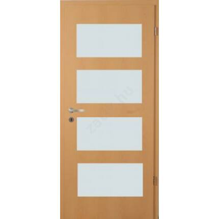 Beltéri ajtó dekorfóliás  Bükk szín 100x210x10 cm jobbos F üv helyes  MAS332 útólag szerelhető tok