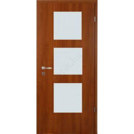 Beltéri ajtó dekorfóliás  Éger szín  90x210x12 cm 3 ÜV balos X MAS86 utólag szerelhető tokkal
