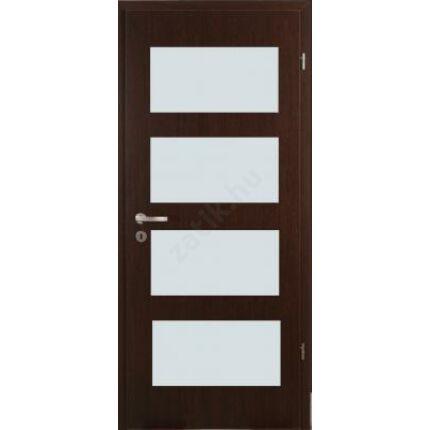 Beltéri ajtó dekorfóliás  Wenge szín 100x210x12 cm jobbos K 5 üv  MAS352 útólag szerelhető tokkal