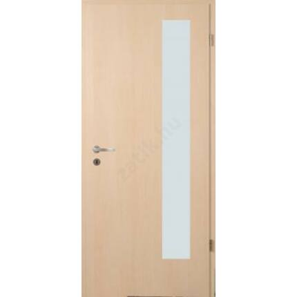 Beltéri ajtó dekorfóliás  Juhar szín  75x210x12 cm balos A 1 üv savmart   MAS364 útólag szerelhető
