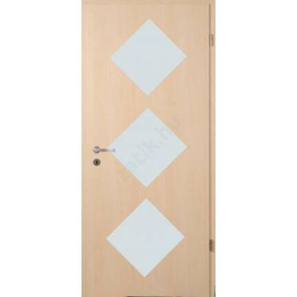 Beltéri ajtó dekorfóliás  Juhar szín 100x210x12 cm jobbos D 3 üv screen  MAS367 útólag szerelhető