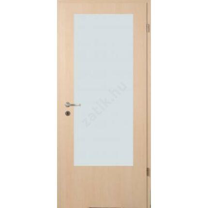 Beltéri ajtó dekorfóliás  Juhar szín 100x210x12 cm jobbos B 1 üv víztisz  MAS368 útólag szerelhető
