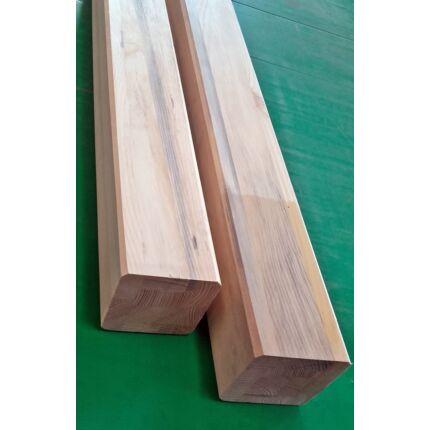 Asztalláb négyszög borovi fenyőfa Rusztikus  90x90x750 mm 45 fokban letört éllel HU++