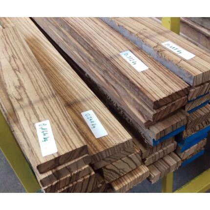 Zebránó fa fűrészáru hobbi fa 1. sz 10-25x50x250-1000 mm 15-30 dkg/db zebrafa