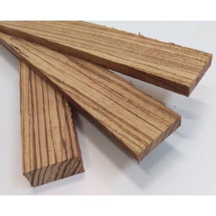 Zebránó fa fűrészáru hobbi fa 2. sz 10-25x50x300-1000 mm 30-50 dkg/db zebrafa