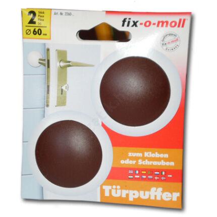 Ajtóütköző falra műanyag félgömb átm. 60 mm barna 2 db/csomag öntapadós kivitel
