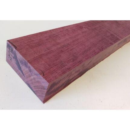 Amaranth fa fűrészáru 52 mm OF. 1000 mm feletti szárított szélezett purpleheart wood