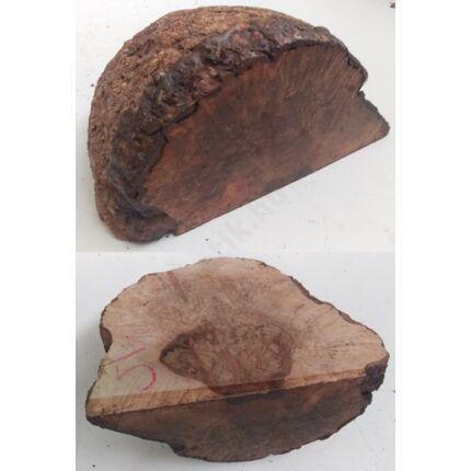 Rózsafa gyökér cse csen 180x180x100 mm 5. sz 2,25 kg Caribian Rose wood burl