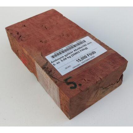 Amboyna gyökér 45x90x160 mm 5. sz  0,58 kg