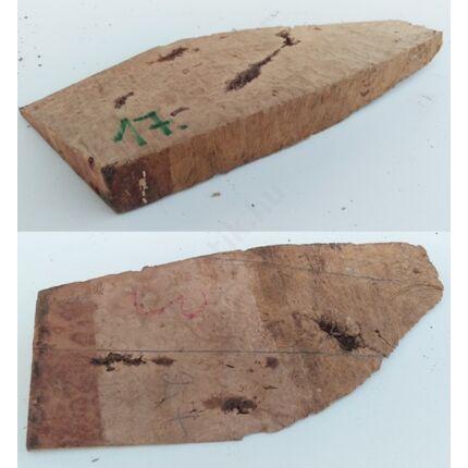 Rózsafa gyökér cse csen 20x 90x220 mm 17. sz  0,2 kg Caribian Rose wood burl