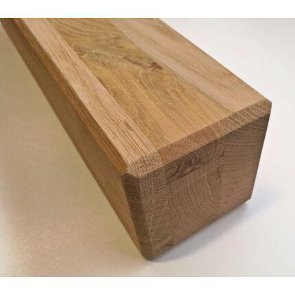 Asztalláb négyszög tölgyfa 90x90x400 mm 45 fokban letört éllel dohányzó asztalláb MF HU++
