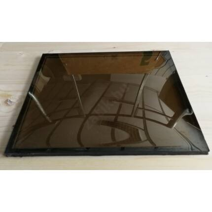 Ajtóbetét üveg betét domború reflexiós 315x360 mm  termo üveg