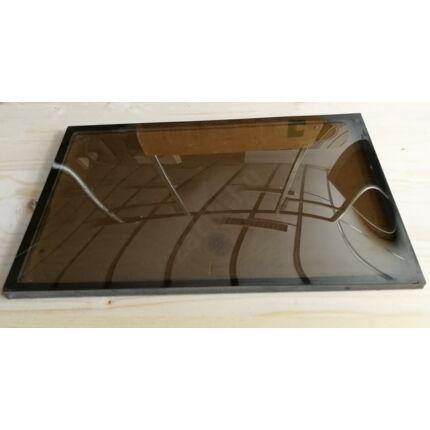 Ajtóbetét üveg betét domború reflexiós 260x425 mm  termo üveg