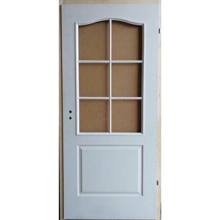 Beltéri ajtó betétmintás M1   100x210 cm FÜ jobb gerébtokkal FEHÉR üvegszorító kerettel MAS