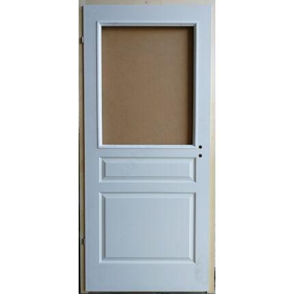 Beltéri ajtó betétmintás M3  100x210 cm FÜ bal gerébtokkal FEHÉR üvegszorító kerettel MAS