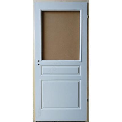 Beltéri ajtó betétmintás M3    90x210 cm FÜ jobb gerébtokkal FEHÉR üvegszorító kerettel MAS