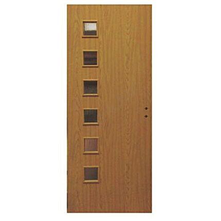 Beltéri ajtó dekorfóliás  Calvados  75x210x12 cm 6 üv  balos Éger MIX MAS133