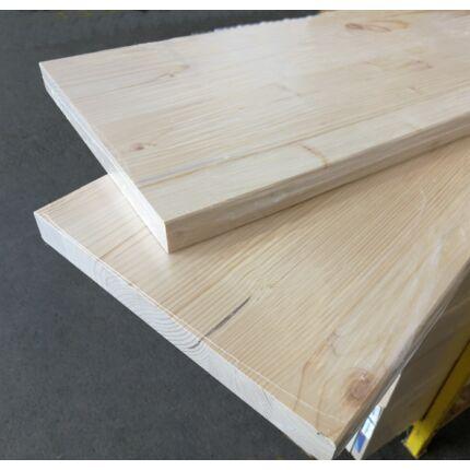 Lépcsőlap lucfenyőfa  800x300x27 mm ívelt éllel