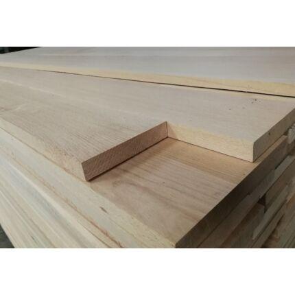 Gyalult gőzölt bükkfa fűrészáru 24 mm  2200 mm OF szárított gyalult deszka változó szélességgel