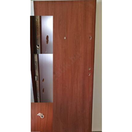 Bejárati ajtó lépcsőházi mahagóni szín 90x210x9 mm  4 ponton záródó balos JW