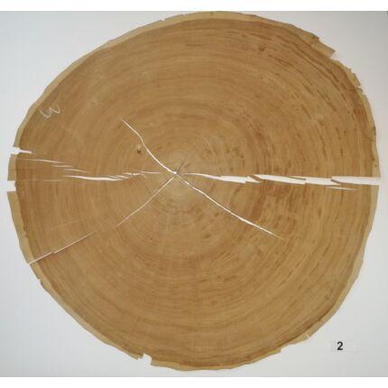 Furnérlemez bütü tölgyfa 0,9 mm  átm. 800 mm  1 lap / 0,5 m2 / csomag 2. sz.
