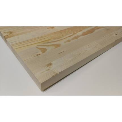 Konyhai munkalap táblásított borovi fenyő HT 32 mm 1000x650 mm A min. 0,65 m2/tábla HU+