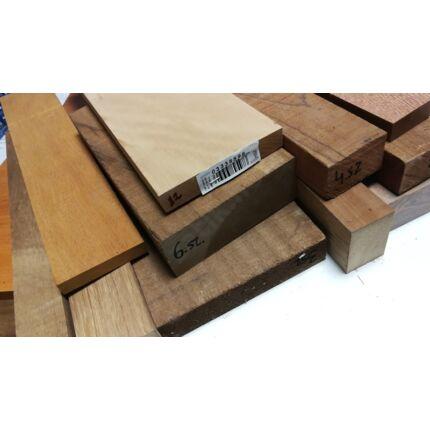 Egzóta fűrészáru hobbyfa vegyes fafajokból 3. sz