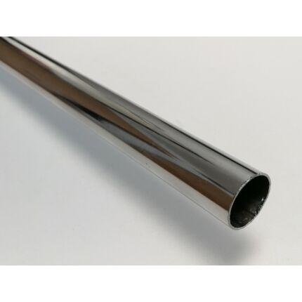 Lépcsőkorlát oszlop krómozott cső közbenső átm. 16x805 mm (fehér színjel)