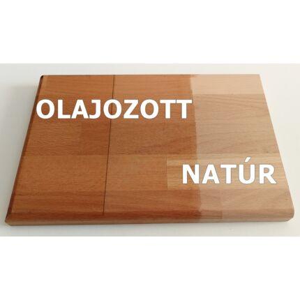 Asztallap táblásított bükkfa gőzölt HT 32 mm  800x690 mm  A min. 0,55 m2  kb. 12 kg IG HU++