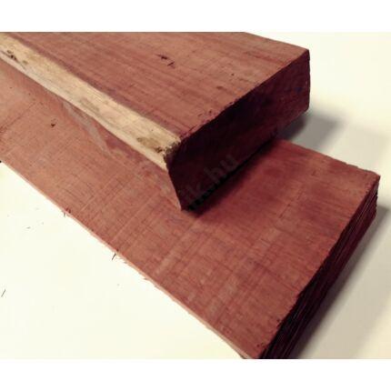 Padauk fa fűrészáru 55x145x1200 mm OF. szárított szélezett