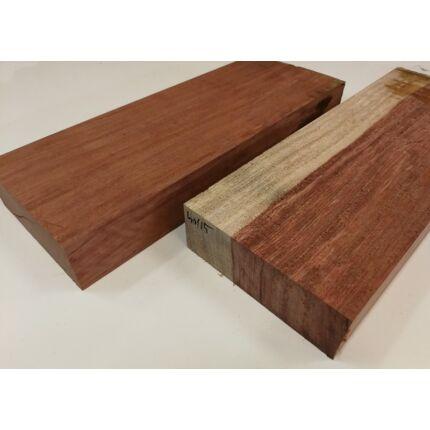 Padauk fa fűrészáru hobby fa 50x150x400 mm