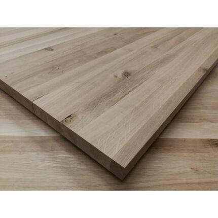 Asztallap táblásított tölgyfa TM Rusztikus 34 mm  950x600 mm 0,57  m2 / 16 kg / tábla HU++