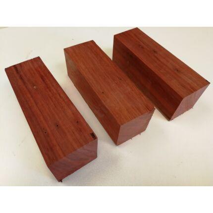 Padauk fa fűrészáru hobby fa 45x50x150 mm