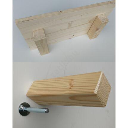 Polctartó konzol fenyőfa 180 mm lebegő polchoz kb. 5 kg. terhelhető karonként.
