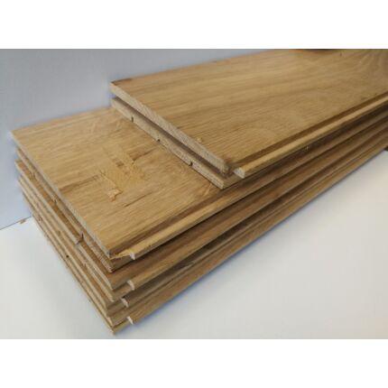 Svédpadló tölgyfa 21x135x400-1100 mm natur felületű parketta 1,4 m2 / csomag