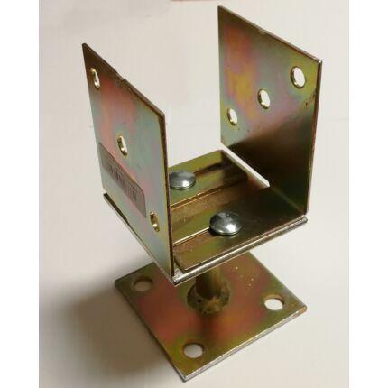 Oszloptartó talp lecsavarozható  80-130x75 mm állítható horganyzott  MMF HU+