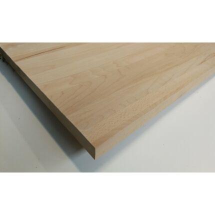 Konyhai munkalap táblásított bükkfa gőzölt TM 38 mm 1500x600 mm  A  min 0,9 m2/tábla toldás mentes