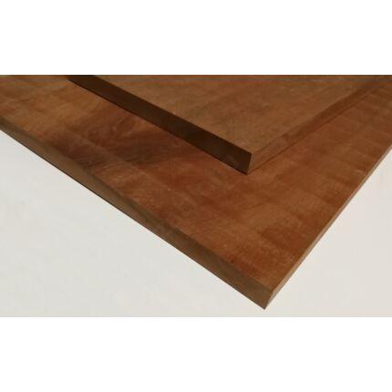 Doussie fa fűrészáru hobby fa 27x780x34 mm Afzelia fa tábla 0,26 m2/tábla